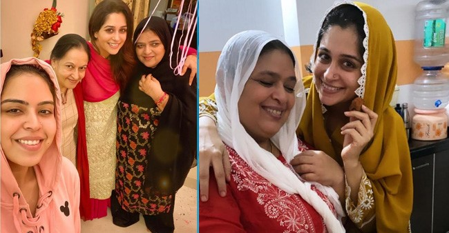 Dipika Kakar cheers her 'Ammi' and sister-in-law Saba Ibrahim as they cook together
