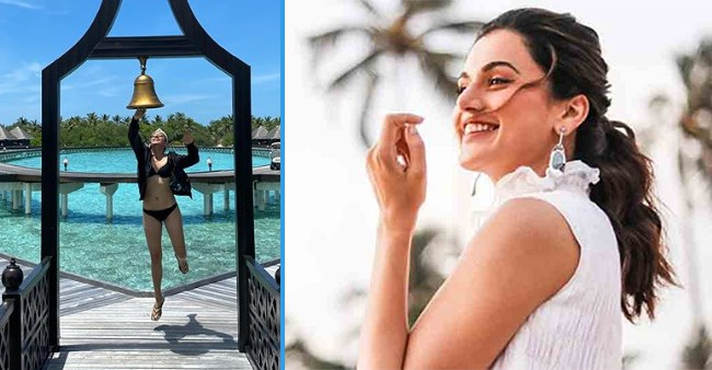 Taapsee Pannu shares a stunning picture of herself from Maldives