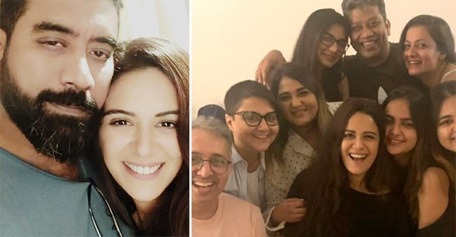 Mona Singh's hubby Shyam Rajagopalan surprised her on the sets of the show to celebrate her birthday