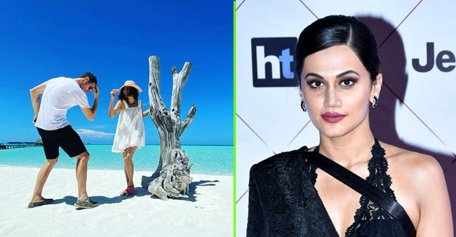 Taapsee Pannu is enjoying her Maldives vacation with her sisters and beau Mathias Boe