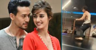 Tiger Shroff's flying kick video leaves rumoured girlfriend Disha Patani in awe