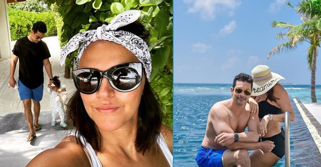 Neha shares a picture of hubby Angad Bedi from Maldives, pairs it with a witty caption