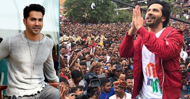 Varun Dhawan thanks his fans with folded hands as he completes 8 yrs in Bollywood
