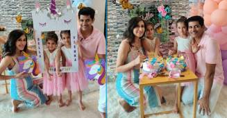 Teejay radiates glow as her twins Veinna & Bella celebrate their 4th birthday