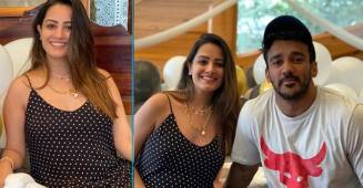 Anita Hassanandani shares a beautiful video as she caresses her baby bump