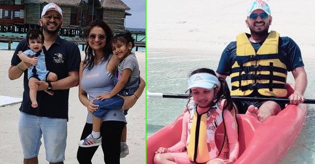 Dimpy Ganguly shares a beautiful picture with her kids as the family is on vacation