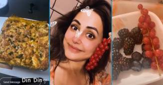 Toofani Senior Hina Khan enjoys some yummy food after returning from BB14 house