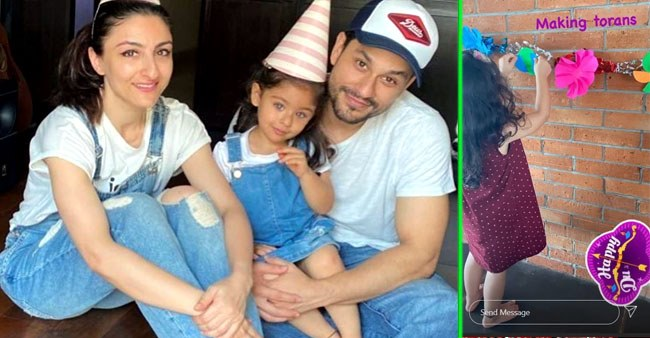 Soha Ali Khan shares picture from daughter Inaaya's early Diwali preparation