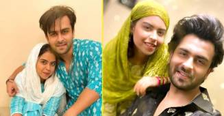 Shoaib Ibrahim twins with his sister Saba Ibrahim for Eid celebration