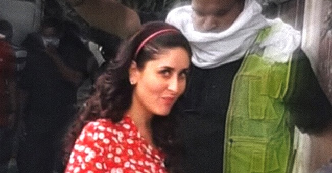Bebo Looks Elegant In Red Attire In BTS Pic From Film Sets; Flaunts Her Cute Baby Bump