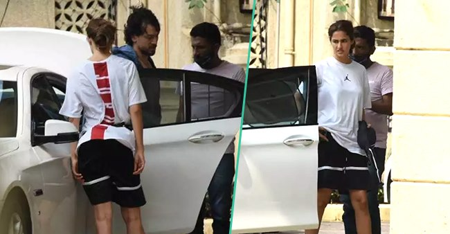 Tiger Shroff Spotted With Supposed GF Disha Patani In The City; Pics