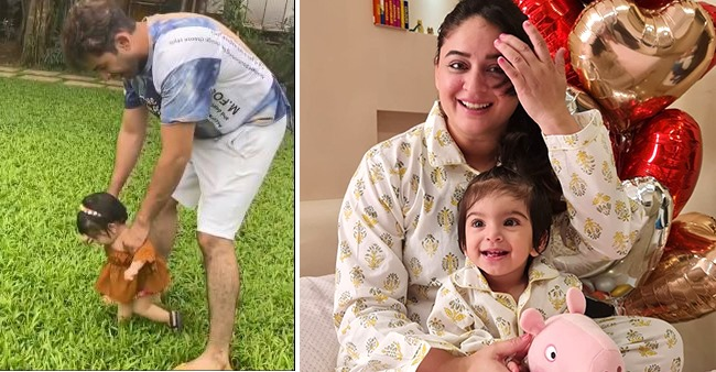 Jay Bhanushali Shares Video Of His Angel Tara's First Walk On Grass; Says 'She Loves It'