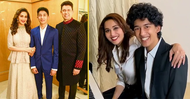 Then & Now Pic Of Madhuri & Son Arin Proves That Actress Is Epitome Of Grace & Elegance