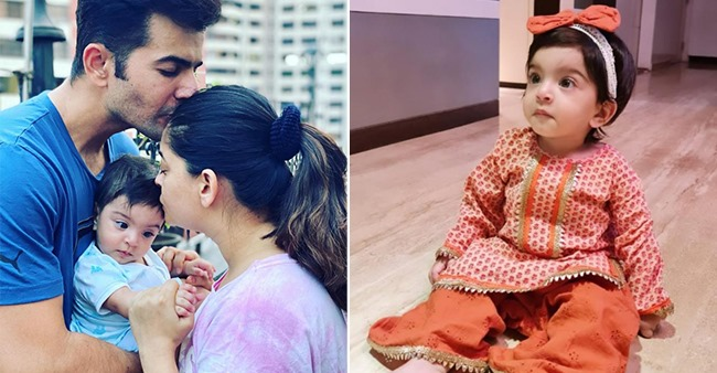 Mahhi Vij Dresses Her Baby Tara In Orange Sharara, Watch Adorable Video