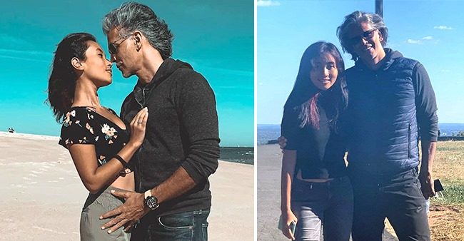 Milind Soman Shares A Romantic Pic With Wife Ankita From The Beach; Fans In Awe