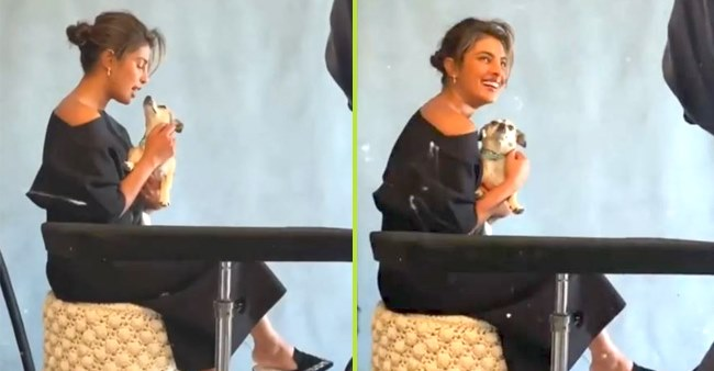 PeeCee Shows Love For Her Pooch As They Come Together For Filming Of A Cover