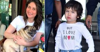 Mom-To-Be Bebo Cuddles Up With The Pug On Her Lap As She Films A Commercial