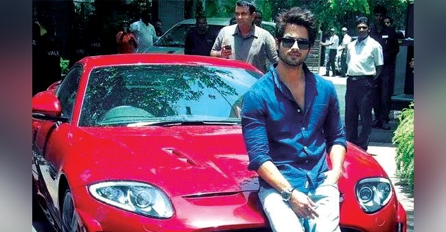 Shahid Kapoor's swanky red Jaguar is simply perfect for him