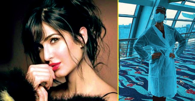 Katrina Kaif shows off her 'new normal' airport look with PPE kit and face shield