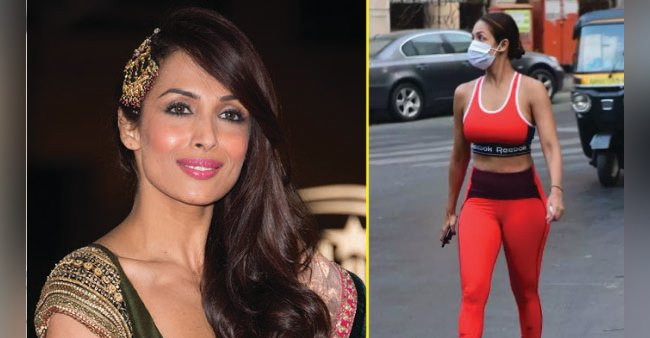 Malaika steps out in red gym wear oozing out major fitness goals