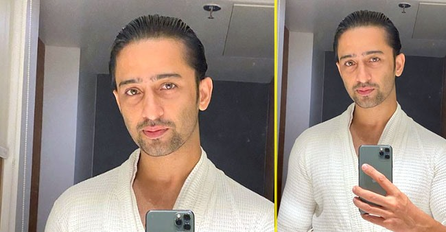 Shaheer Sheikh shares a captivating picture in a bathrobe immediately after leaving the shower