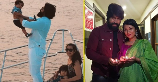 KGF star Yash's wife, Radhika, shared pictures from her last two Diwali with a baby bump