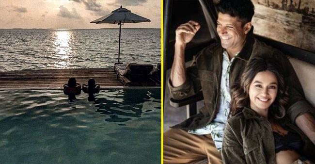 Farhan Akhtar & Shibani Dandekar's sunset moment in a pool at Maldives is simply beautiful