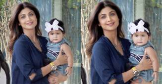 Shilpa Shetty & daughter Samisha Shetty spotted wearing colour coordinated outfits