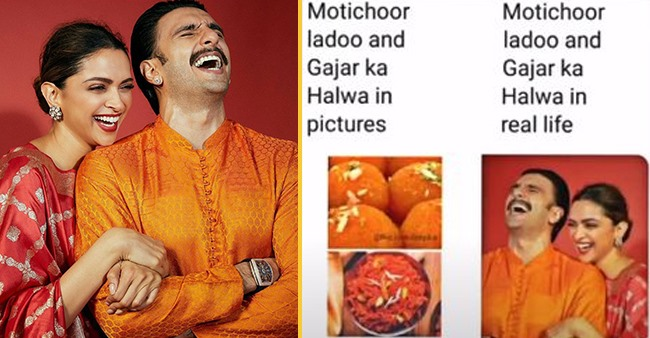 Deepika Shares Funny Meme Comparing Her & Hubby Ranveer's Diwali Looks To Sweets