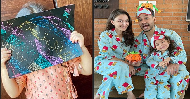 Soha's Little Munchkin Inaaya's 'Rangoli' Idea For Diwali Is Worth Inspiring & Innovative