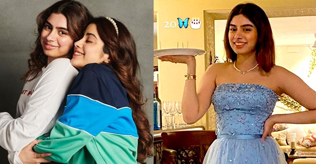 Sridevi's Youngest Daughter Khushi Turned A Year Older; Sissy Janhvi Showered Her With Love