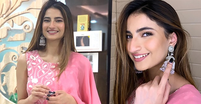 Palak Tiwari Shares Some Pretty Pics Looking Gorgeous In A Pink Indo-Western Outfit