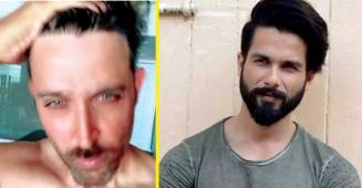 Hrithik Roshan Gives A Glimpse Of His Trimmed Beard; Shahid Kapoor Says 'Oohhoooo'