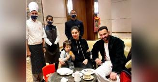 Taimur makes a chocolate egg shell with parents Kareena Kapoor Khan & Saif Ali Khan