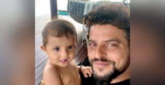 Suresh Raina shares an adorable picture of son Rio from his first overseas holiday