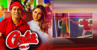 Sara and Varun re-create DDLJ's train scene in a BTS moment of Coolie No. 1 song Teri Bhabhi