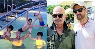 Rakesh Roshan shares a picture as he enjoys some pool time with his grandchildren