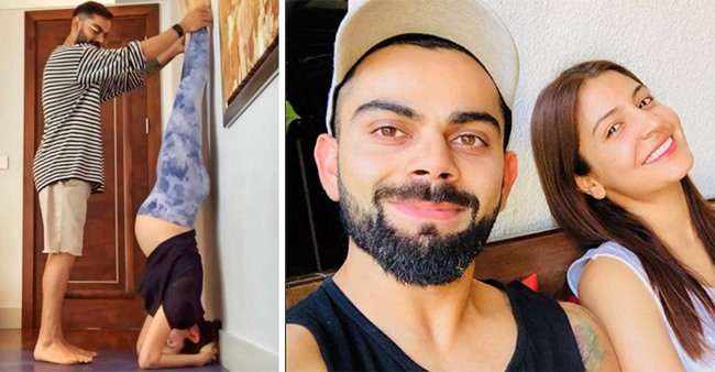 Mom-To-Be Anushka Shares Her Pic Doing Headstand With The Help Of Her 'Very Able Husband' Virat