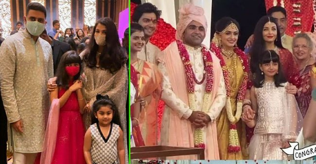 Ash-Abhi Enjoy Cousin's Marriage Ceremony With Baby Aaradhya; See Pics
