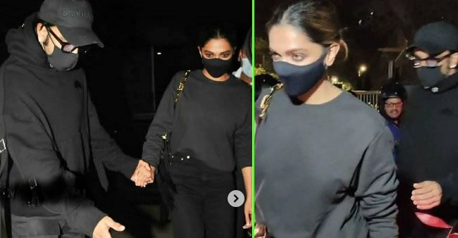 Deepika & Ranveer Clicked Holding Hands As They Cross A Road To Reach A Bandra Eatery