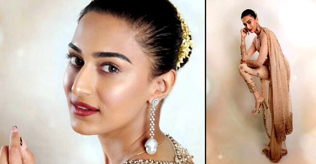 Erica Fernandes Is A Sight To Behold In Beautiful Glittery Saree