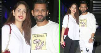 Rahul Vaidya Twins In White With GF Disha For Their Dinner Date; Fans In Awe