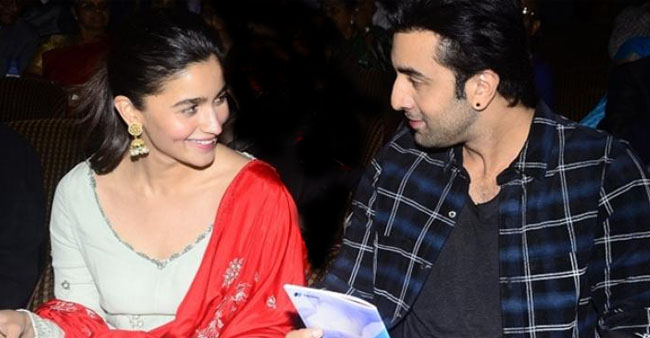 Ranbir Plans To Have A Huge Canvas Of Alia's Old & Candid Pics At New House