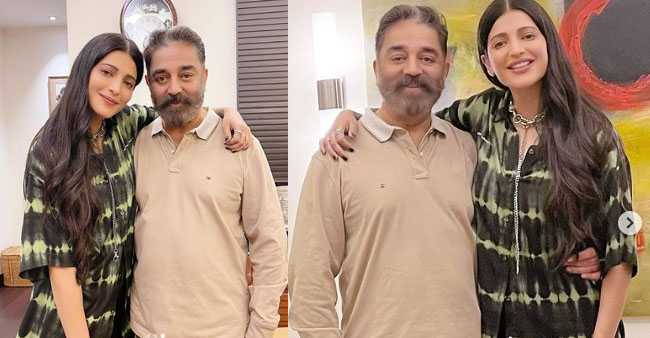 Shruti Haasan Posts Delightful Pics As She Meets Her 'Appa' Kamal After Ages