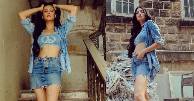 Shruti Haasan Delves Into Crop Top Trend In Stylish Way & It's Perfect Summer Ensemble