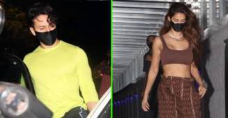 Rumored Pair Tiger & Disha Papped Post Exiting A Mumbai Restaurant