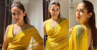 Mira Rajput Looked Like Sunshine In Bright Yellow Saree At BFF's Wedding