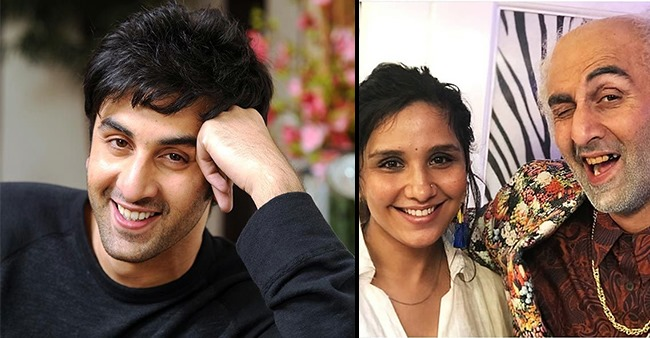 Ranbir's Bald Look Pics Reach Web, Actor Poses With Make-Up Expert For Massive Transformation