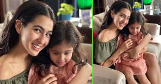 Sara Posts Cute Pics With Her 'Bua' Soha's Daughter Inaaya; Netizens Praise Their 'Cuteness'