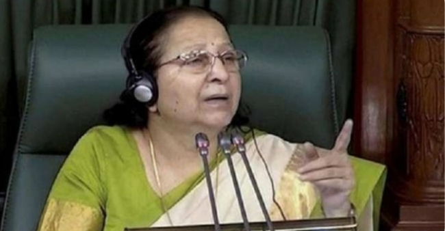 Shashi Tharoor posts fake news on Former Lok Sabha Speaker Sumitra Mahajan's death unknowingly, deletes later